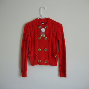 J.Crew Cotton Toulouse Sweater Jacket Size XS
